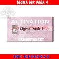 A ativação a mais nova do pacote 4 de sigma pack4/sigma usada para ativar a caixa de sigma e o dongle da chave de sigma