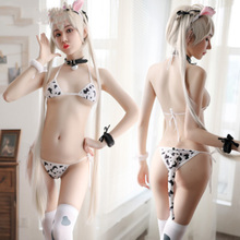 Cow Cosplay Clothes Femme Sexy Hot Transparent Bikini Cute Exotic Apparel Kawaii