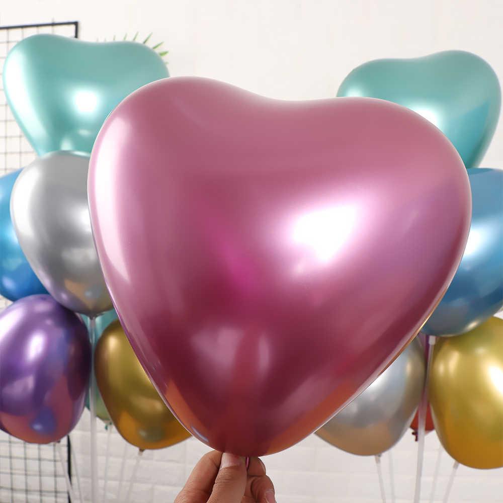 5 pçs prata ouro metálico látex balões perolado metal balão ouro cores globos festa de aniversário do casamento suprimentos balão @ 6