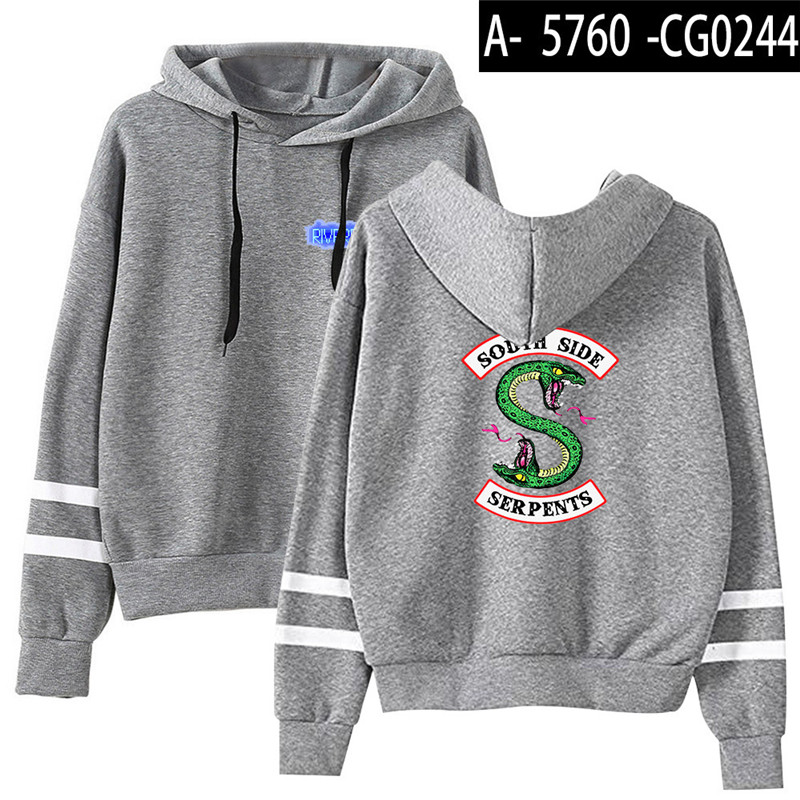 Riverdale Southside Serpents Hoodies Sweatshirts MenS Women South Side Serpents Hoodie Long Sleeve Striped Pullover Top Oversize 20