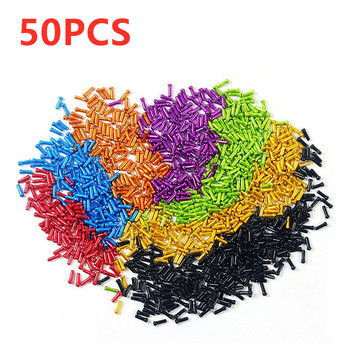 50PCS/Set Bike Bicycle Brake Shifter Inner Cable End Caps Cable Tips Wire End Cap Fit Brake Shift Inner Cable Caps Free Shipping image