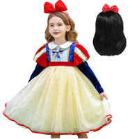 Disfraz Blancanieves para fiesta de Carnaval para niños, trajes de Cosplay para niña, vestidos de princesa para juegos de rol, vestido de graduación de malla de manga larga
