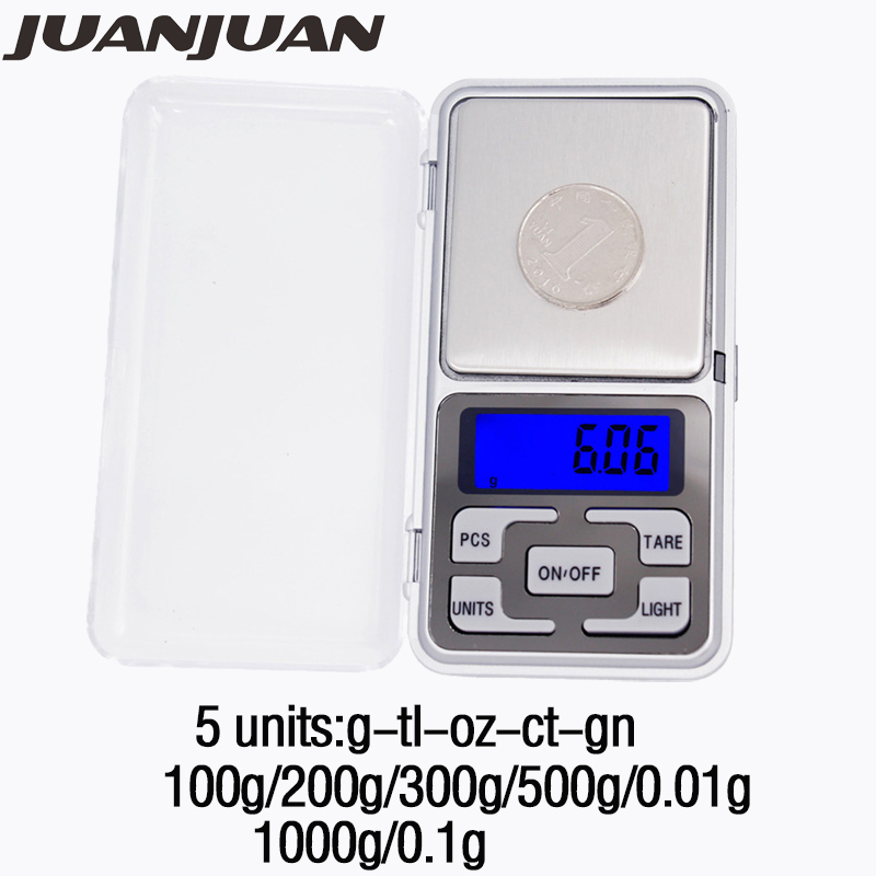 Цифровые карманные мини-весы, 100 г/200 г/300 г/500 г/0,01 г, 1000 г, 0,1 г, 1 шт.