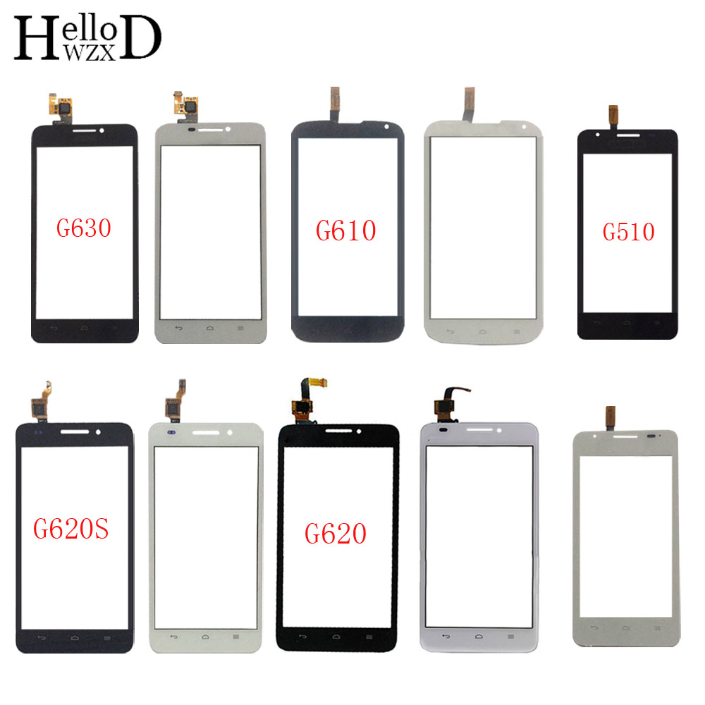 Touch Screen Sensor For HuaWei G510 G610 G620 G620S G630 Touch Screen Digitizer Panel Front Glass TouchScreen 3M Glue Wipes