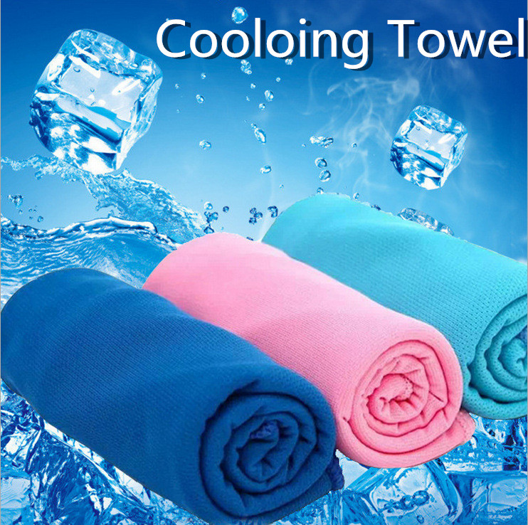 Microfiber Sport Towel Rapid Cooling Ice Face Towel Quick-Dry Beach Towels Swimming Enduring Instant Chill Fitness Yoga Towels