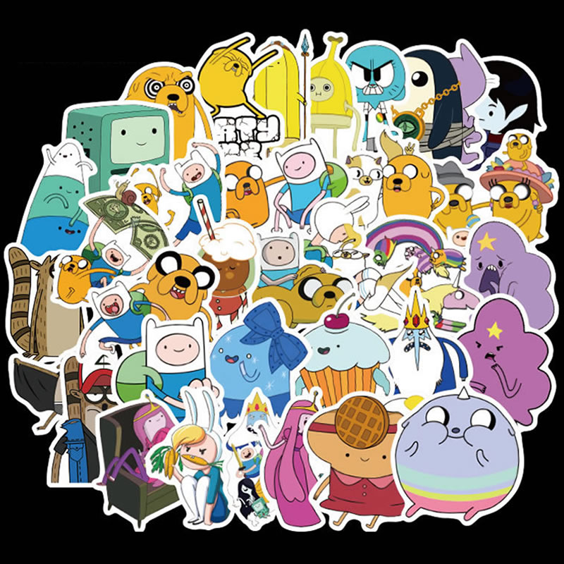 10/30/50pcs Cartoon Adventure Time Waterproof Graffiti Stickers Skateboard Suitcase Guitar Girls Funny Sticker Kids Classic Toy