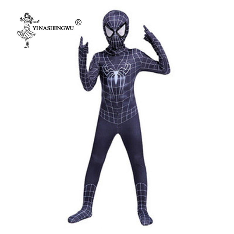 Black Spiderman Costume Spider Man Suit Halloween Costume With Mask Spider-man Costume Adult Spider-Man Cosplay Clothing Costume