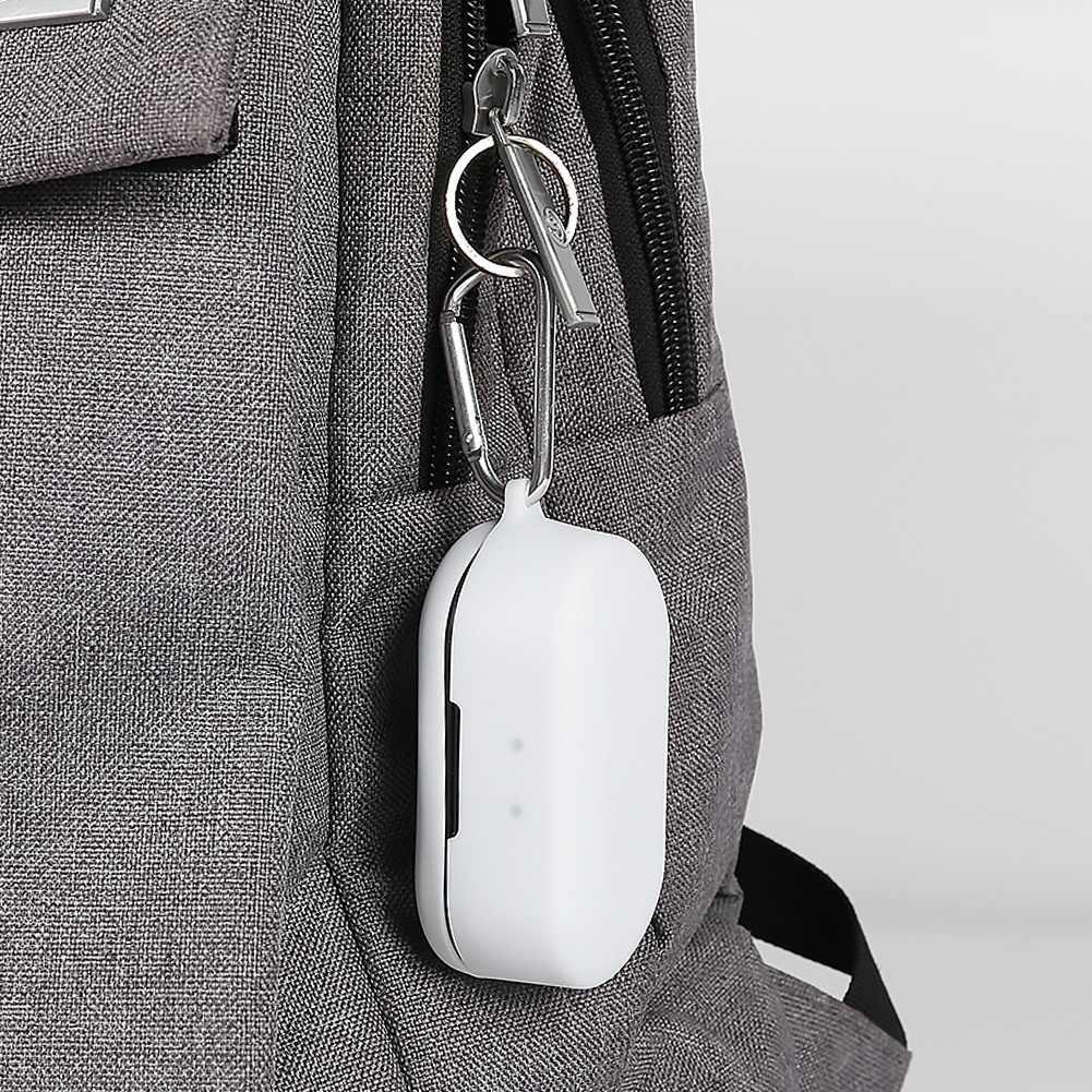 Auriculares Bluetooth funda protectora de silicona a prueba de polvo caja anticaída para QCY T2C cubierta con gancho