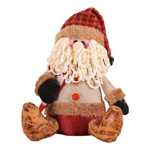 Хит, 30 стилей, рождественские украшения для дома, Рождественские куклы, елочные украшения, инновационная декорация с лосем, Сантой, снеговиком - Цвет: I 20x15cm
