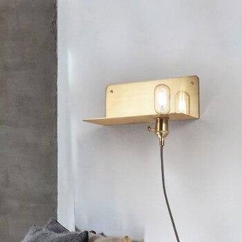 Nordic Minimalism Glass Globe Lustre E27 Led Wall Lamp Corridor Retro Led Wall Scones Black / Gold Metal Luminaires Lighting