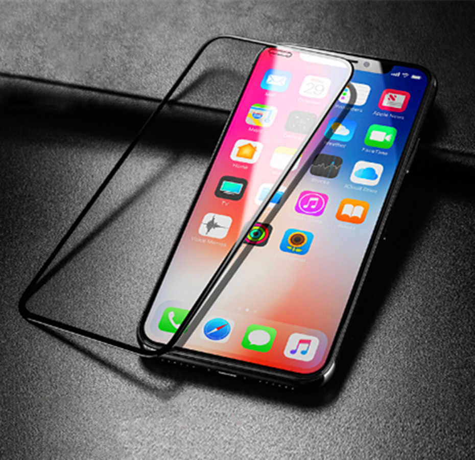 3D Full Screen protective Film for iphone XR XSMAX Black Tempered Glass for iphone 6 6s 6plus 7 7plus 8 8plus X XS Glass Film