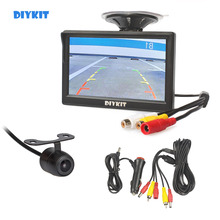 DIYKIT 5 inch TFT LCD Car Monitor Suction Cup and Bracket +  Rear View Camera Car Camera Parking System