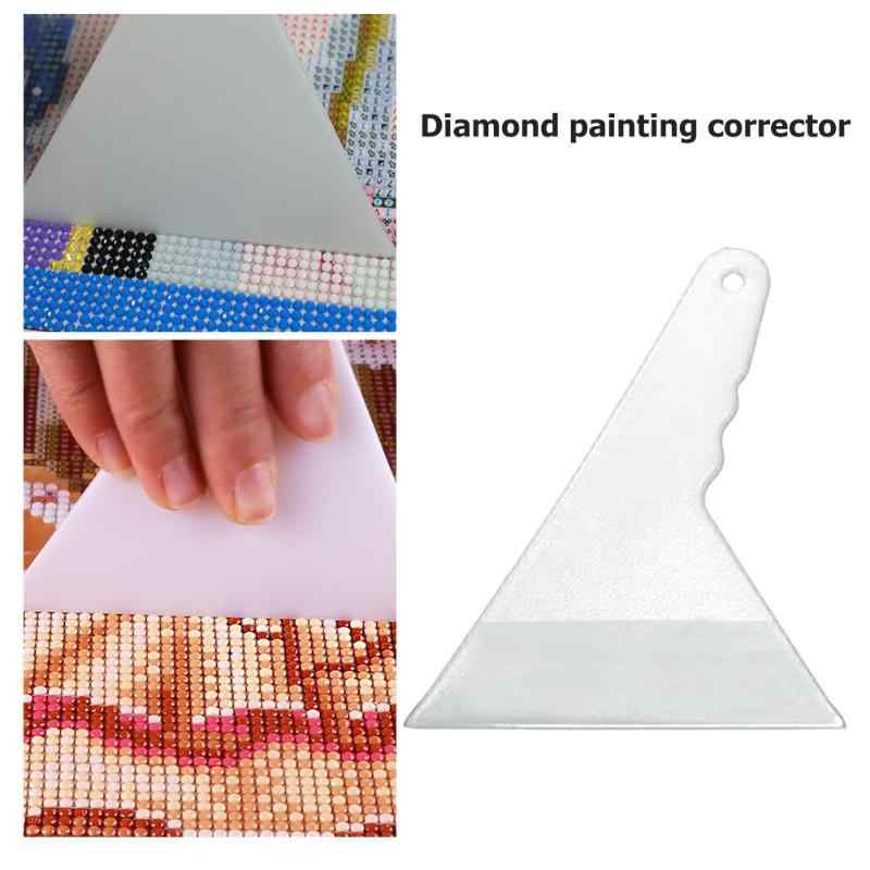 DIY 14*10 Cm Cross Stitch Gambar Korektor Adjuster Kreatif Kerajinan Aksesori Lukisan Berlian Alat Koreksi Artefak