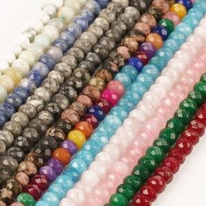 2 4 мм 4 6 мм Природный камень плоской нефрит ограненные кристаллические стеклянные бусины для изготовления ювелирных изделий Аксессуары для браслетов своими руками|Бусины|   | АлиЭкспресс