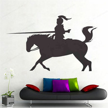 charging horse wall decal removable wall art mural home decor boys bedroom wall sticker vinyl JH220 movie cartoon characters wall sticker vinyl boys room wall decor movie wall decal art mural jh377