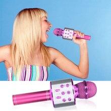 WS858 Professionelle Bluetooth Drahtlose Mikrofon Lautsprecher Handheld Mikrofon Karaoke Mic KTV Musik Player Singen Recorder