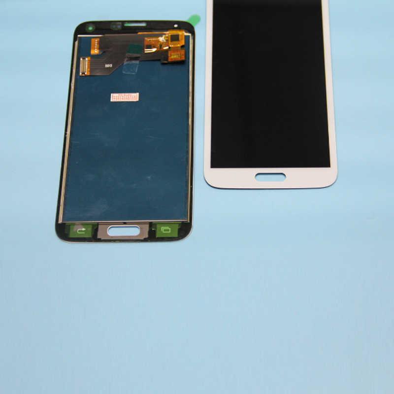 LCD untuk Samsung S5 LCD G900F G900A LCD Display G900P G900T G900V Layar Sentuh Display LCD Digitizer Penuh Perakitan