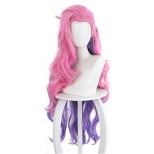 Высокое качество игры розовый парик для косплея синтетический термостойкий парик волос; Костюм на карнавал или Хэллоуин вечерние реквизит ...