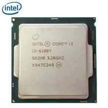 Intel core i3-6100T dwurdzeniowy 3.2GHz 3MB pamięci podręcznej i3 6100T LGA 1151 35W procesor pulpitu procesora testowany W 100% pracy