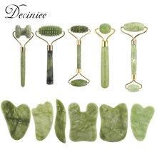 11 arten Xiu Yu Jade Roller Gesichts Ridged Roller Haut Massage Roller Gua Sha Kratzen Massage Werkzeuge Anti Aging Falten für Gesicht
