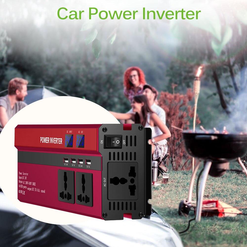 Image 5 - Onever 5000W Solar Car Power Inverter DC12/24V To AC110/220V  Converter Digital Display 4 USB InterfacesCar Inverters   -