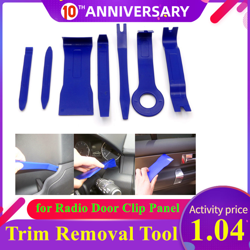 7pcs Plastic Trim Removal Tool Car Radio Panel Door Clip Panel Dashboard Interior Trim Removal Tool Kit Auto Car Removal Tool