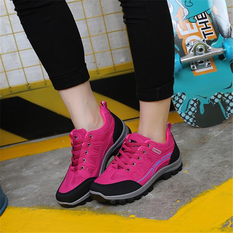 2020 Autumn Non slip Breathable Sneakers Men Trekking Shoes Climbing Shoes Women Outdoor Waterproof Hiking Shoes Travel Shoes|Hiking Shoes| |  - title=