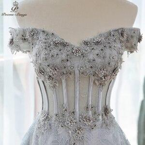 Женское вечернее платье, элегантное серое платье с блестками и цветами, вечернее платье для выпускного вечера 2020