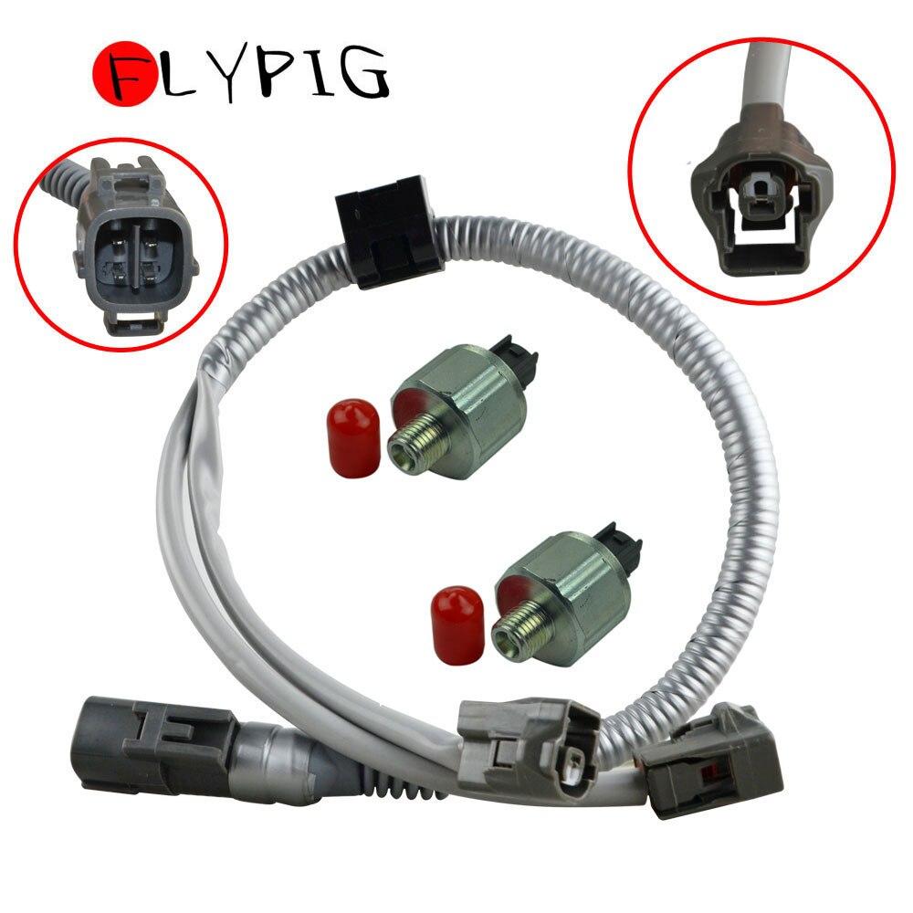 2 pcs 89615-12040 Knock Sensors /& Harness For TOYOTA LEXUS