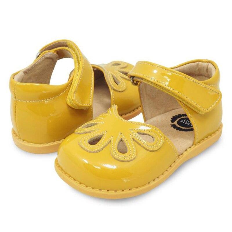 Livie & Luca Summer Patel Style Children Girls Flowers Shoes Kids Flat Baby Sandals Boys  Genuine Leather