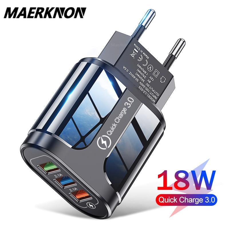 Блок питания Maerknon для USB устройства, 18 Вт, цвет белый/черный