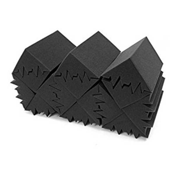 Promoção! Novo 8 pacote de 4.6 em x 4.6 em x 9.5 em isolamento acústico preto baixo armadilha parede acústica espuma estofamento estúdio foa