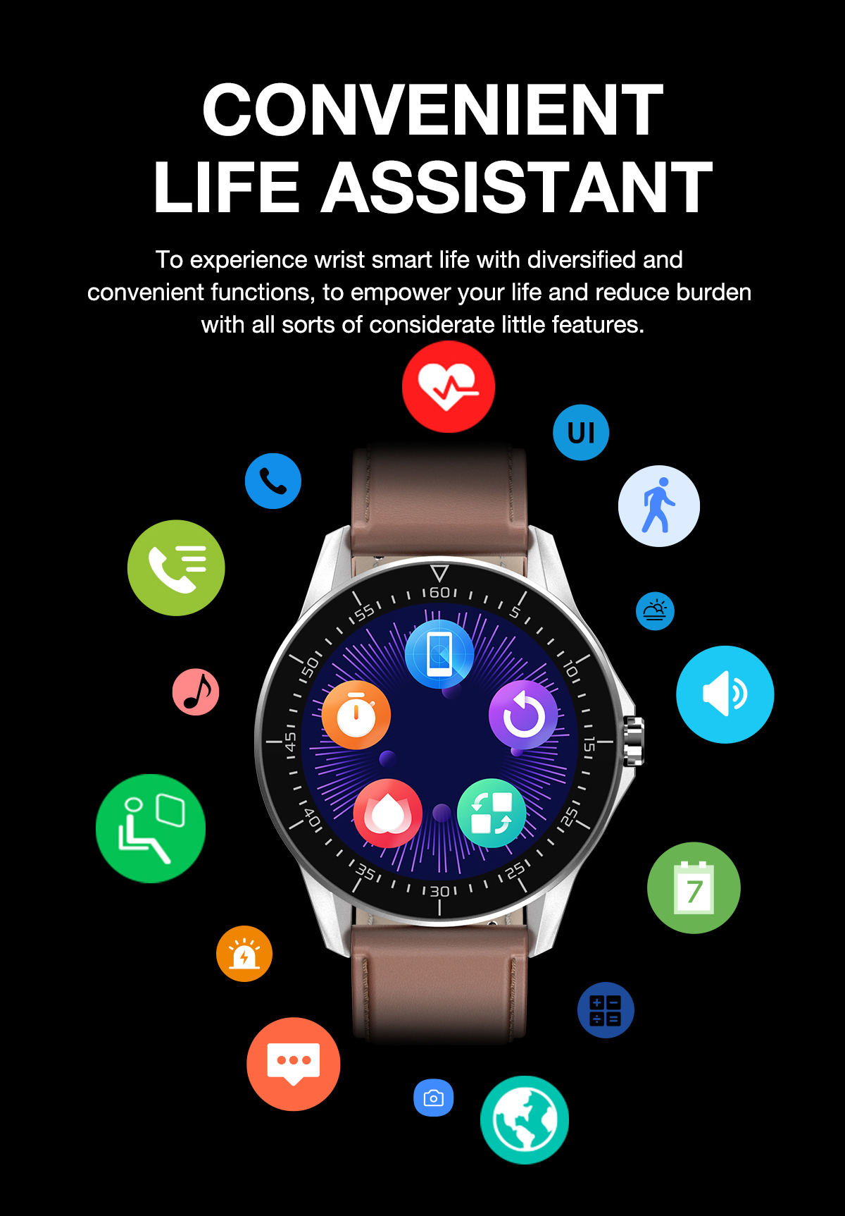 Smart Watch For Huawei  Apple Xiaomi Bluetooth Call reminder smartwatch Men IP68 Waterproof Fitness watch sport Smart watch 2021 4