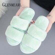 лучшая цена Women Winter Slippers Home Shoes Female Indoor Shoes Women Warm Slippers Plush No Slip Solid Flip Flops Casual Shoes 2019 DE