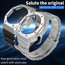 Refitting GA-2100 GA2110 lunetta in metallo cinturino in acciaio inossidabile 316L accessori per la modifica della cinghia dell'orologio GA2100 con strumenti