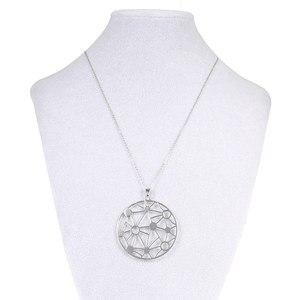 Image 4 - Cremo collar largo de acero inoxidable estrella colgante de cuero intercambiable pendientes de gota conjunto de joyas collar de cadena larga para mujer