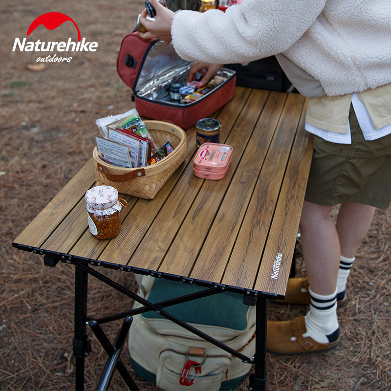 naturehike acampamento mesa multiuso telescopica portatil dobravel 04