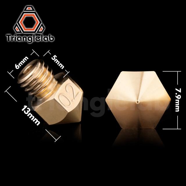trianglelab Top quality Brass MK8 Nozzle for 3D printers hotend 1.75MM Filament  J-head cr10 heat block ender3 hotend m6 Thread 4