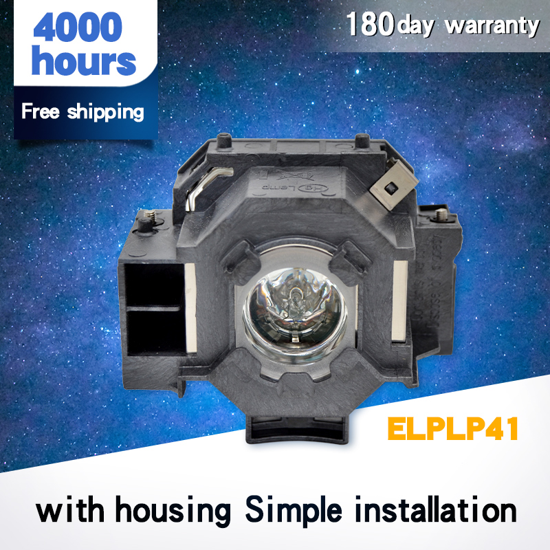 Compatible For ELPLP41 EMP-S5 EMP-S52 EMP-T5 EMP-X5 EMP-X52 EMP-S6 EMP-X6 EMP-260 EB-S6 Projector Lamp V13H010L41 For Epso N