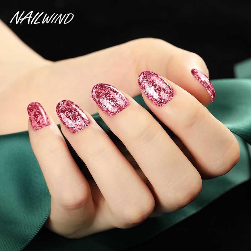NAILWIND UV Gel de uñas pintura brillante diamante deslumbrante Gel barniz uñas híbrido semipermanente Base superior CONJUNTO DE MANICURA