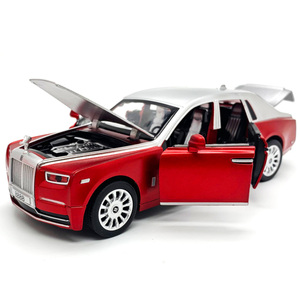 1/28 Luxury 2019 Rolls Royce Alloy Model Toy Car Simulation Sound Light Pull Back 6 Door Collection Toys Vehicle For Boys