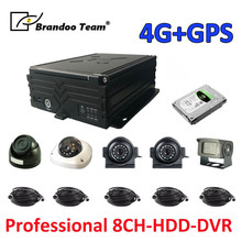 8ch 1080 1080P 4 グラム GPS HDD MDVR システム + 5 個 2.0MP AHD カメラ + 5 個 5 メートルビデオケーブル、プロの dvr メーカーで、送料無料