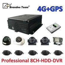 8ch 1080P 4G GPS HDD MDVR System + 5 uds. Cámara 2.0MP AHD + 5 uds. cable de vídeo de 5 metros, fabricante profesional de DVR, envío gratis