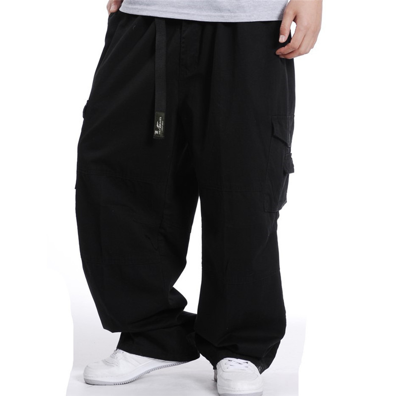 Europe And America Version Of Men's Multi-pocket Trousers Lard-bucket Casual Wear-Resistant Bib Overall Plus-sized Large Size Wi
