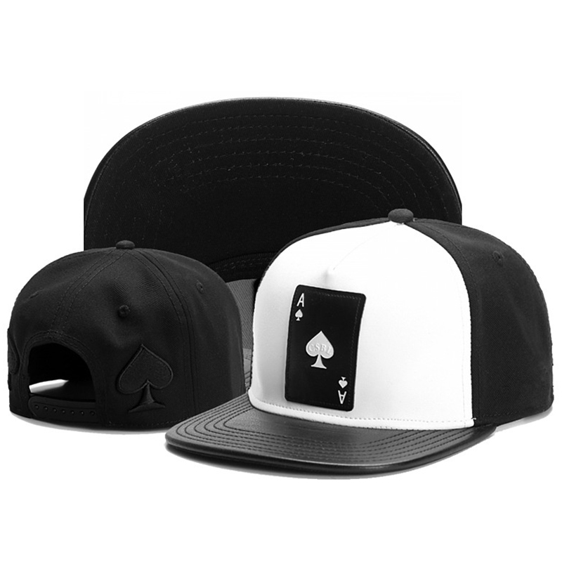 TUNICA Brand Ace Of Spades Hip Hop Snapback Hat For Men Women Adult Outdoor Casual Sun Baseball Cap Bone