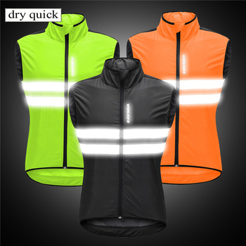 Versatile Sleeveless Windproof Vest Lightweight Jerseys Reflective Wind Coat Cycling Jackets wosawe windproof cycling jackets men women riding waterproof cycle clothing bike long sleeve jerseys sleeveless vest wind coat
