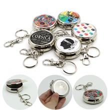 Mini Cigarette Ashtray Portable Pocket Round Tinplate shtray/Car with Key Chain and Holder Case Dropshipping