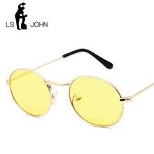 LS JOHN 2019 Metal Round Vintage Sunglasses Women Mirror Classic Retro Street Beat Glasses