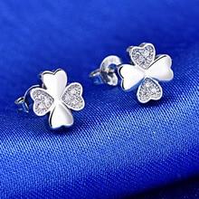 цена на Sweet Rhinestone Stud Earrings Korean Fashion Geometric Flower Earrings For Women Accessories Wedding Bohemian Bijoux