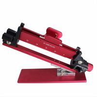 Red Sticking Feather Tool Adjustment Functions Aluminum Fletching Jig For Compound Bow And Recurve Bow Arrow